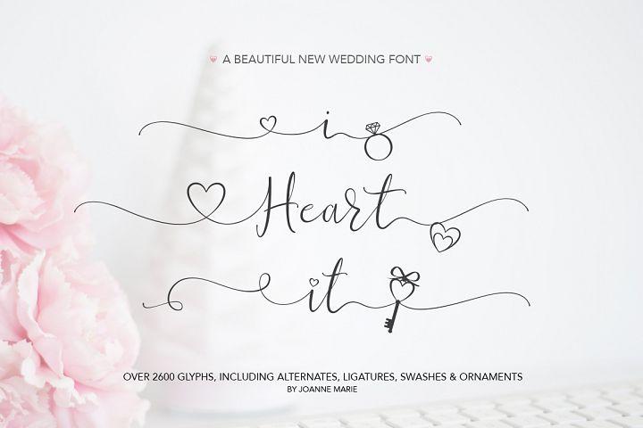 Valentine's Font Bundle with 6 Free Procreate Brushes example image 2