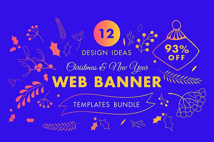 Winter Web Banner Design Templates Bundle SALE
