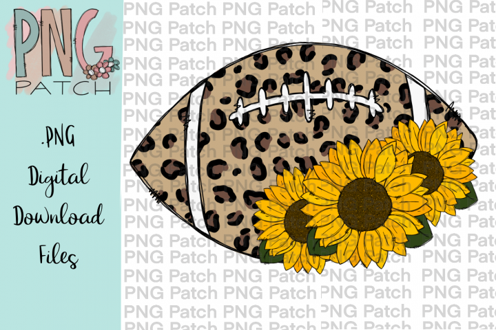 Leopard Football with Sunflower, Football PNG File File
