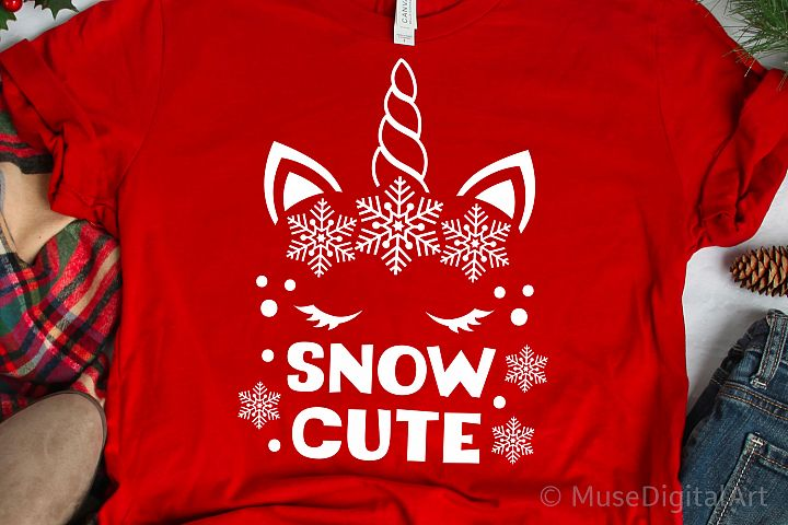 Snow Cute Svg, Christmas Unicorn Svg, Snowflake Unicorn Svg