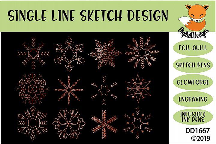 Foil Quill Snowflake Bundle