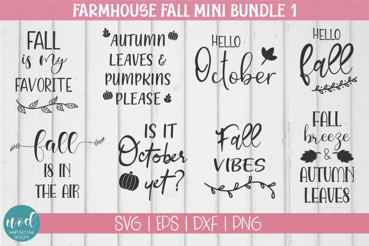 Farmhouse Fall SVG Bundle Vol 1