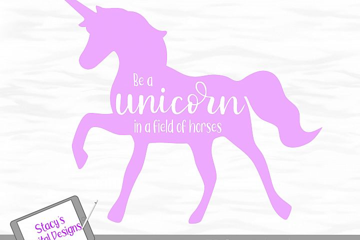 Unicorn SVG - Be a unicorn in a field of horses example 3