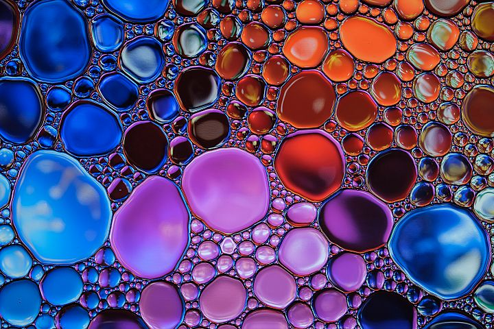 Beautiful abstract water drops colorful background