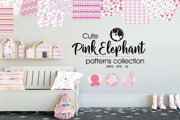 PINK-ELEPHANT, digital papers
