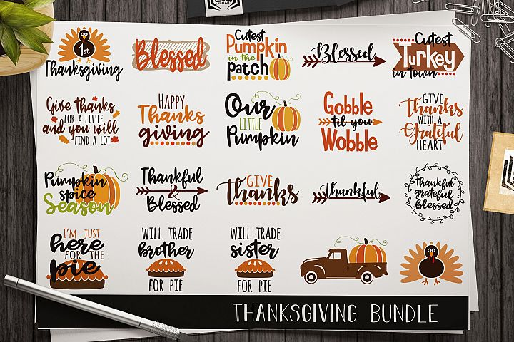 Thanksgiving SVG bundle - Cut files - Vector files - Decals