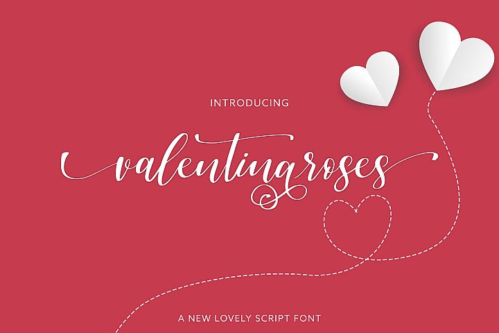 Valentinaroses Lovely Script Font