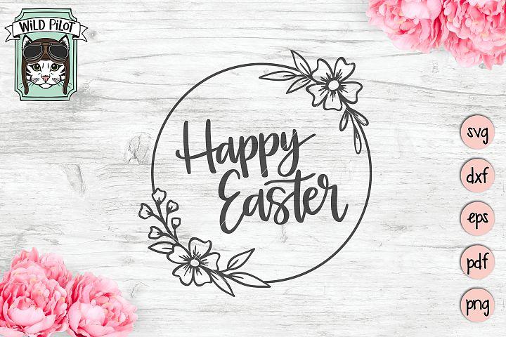 Easter SVG file, Happy Easter svg files, Easter wreath