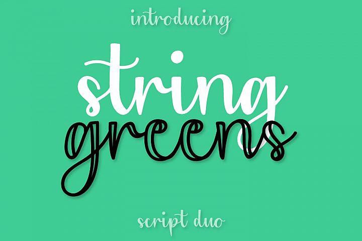String Greens - A Fun Script Duo