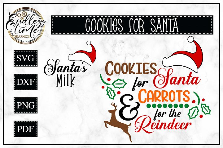 Cookies for Santa- Carrots for Reindeer SVG - Santas Milk