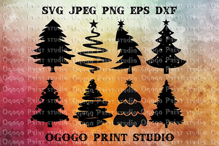 Christmas Tree Svg Bundle, Merry Christmas svg file