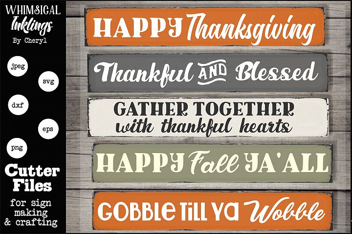 Thanksgiving Hodge Podge SVG Set