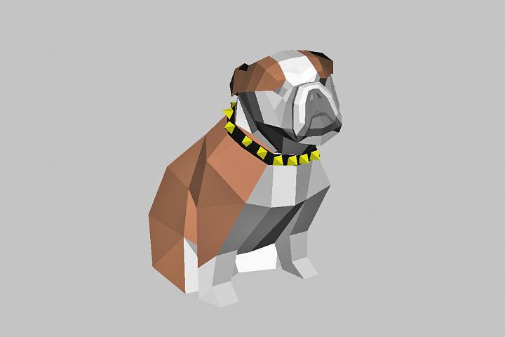 DIY Bulldog - 3d papercraft