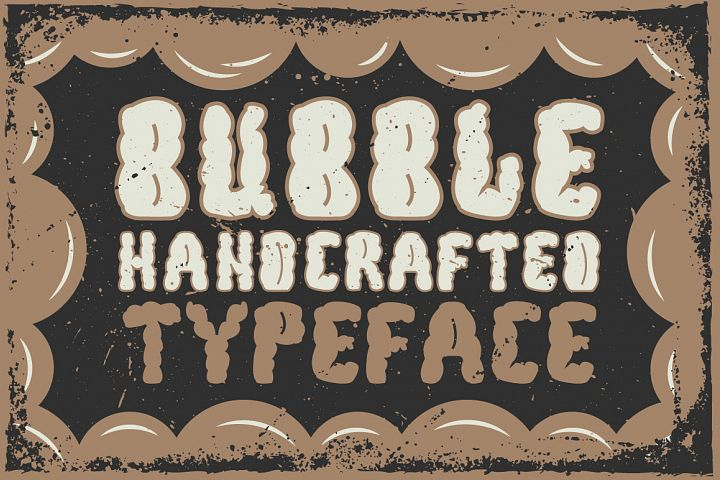 Bubble handcrafted typeface