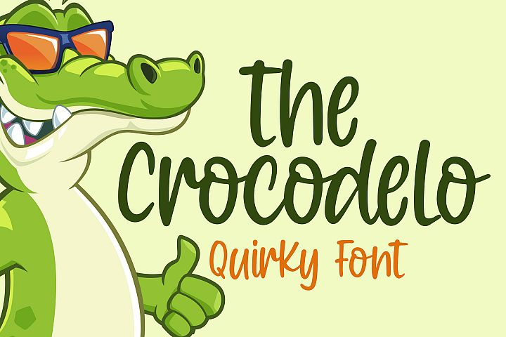Crocodelo - a Quirky Font