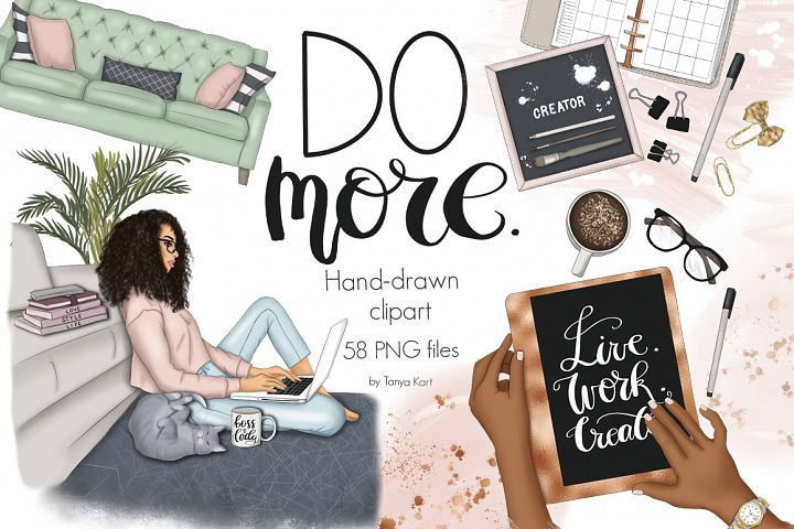 Do More Clipart & Seamless Patterns