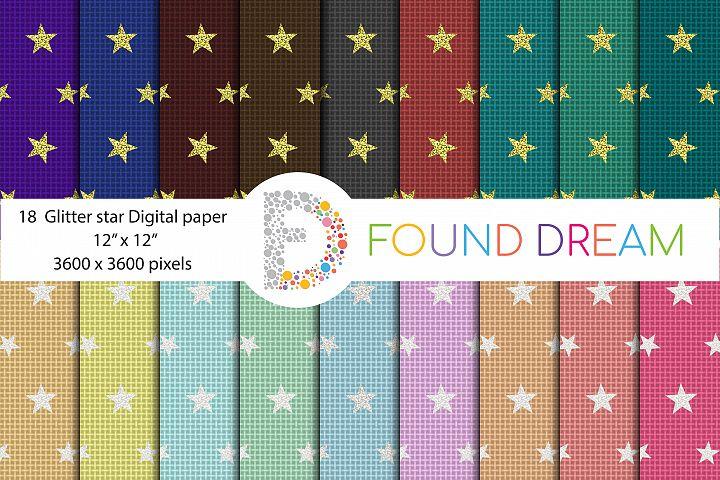 Glitter Star Digital Papers