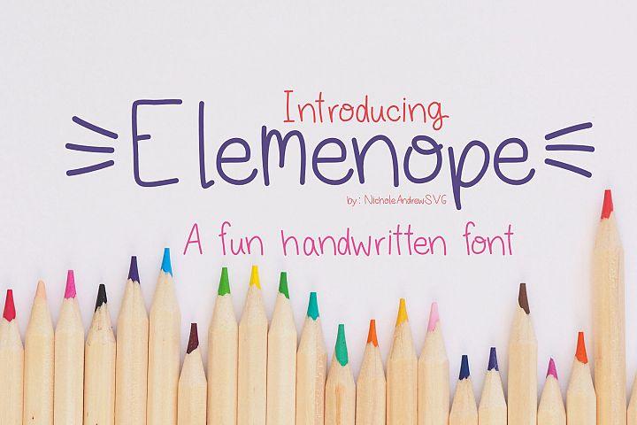 Elemenope, A fun handwritten font