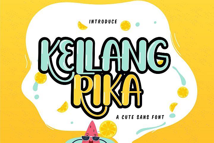 Kellang Rika | Cute Sans Font