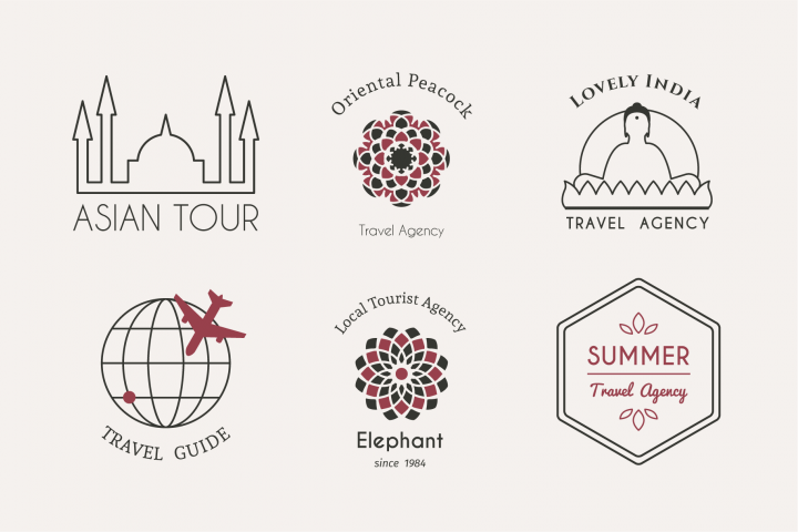 6 Travel Logo Templates EPS SVG JPG PNG