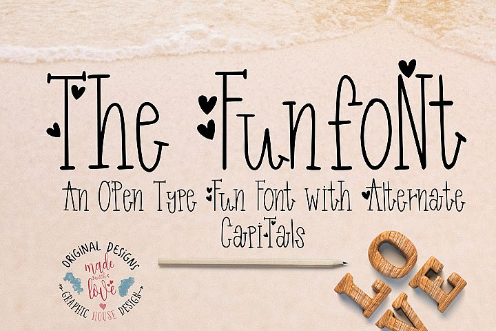 Funfont - Modern Hand Lettered Font with Cute Alternate Capitals