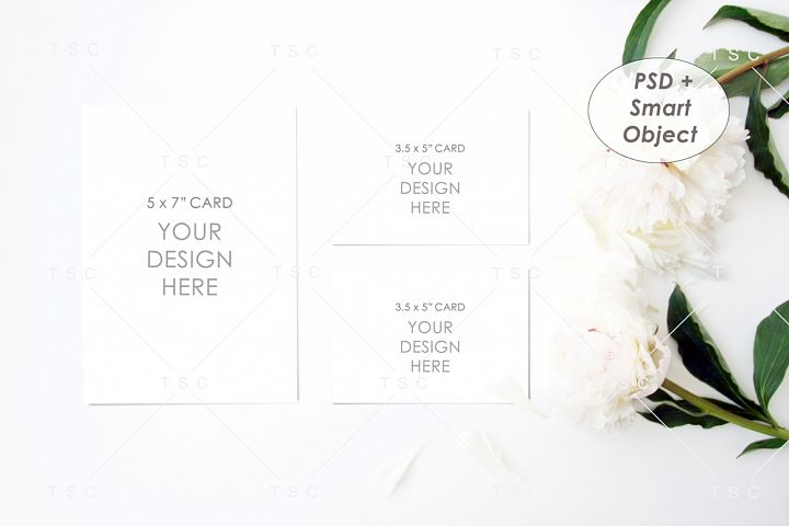 Wedding Suite Mockup / Invitation Card / RSVP Card