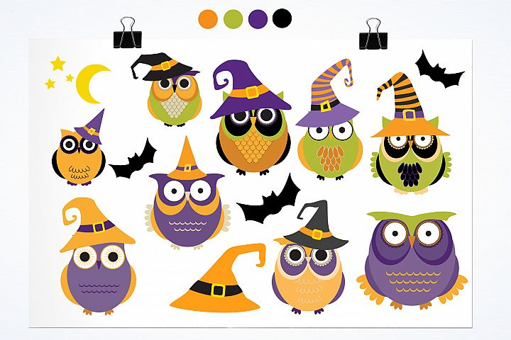Halloween Owls graphics and illustrations - Free Design of The Week Design 1