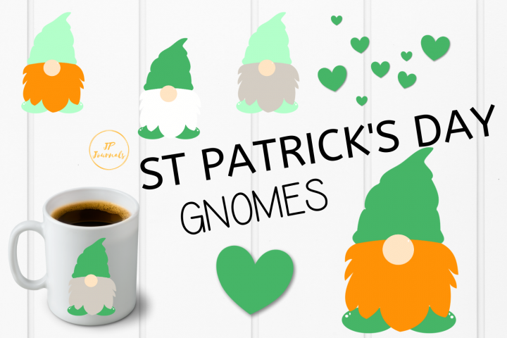 St. Patricks Day Gnomes Clip Art