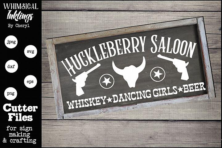Huckleberry Saloon SVG