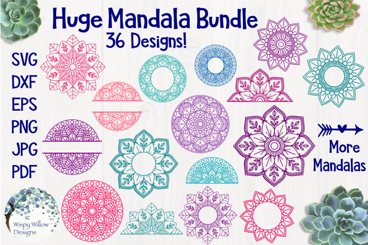 Huge Mandala Bundle | 36 SVG Cut Files