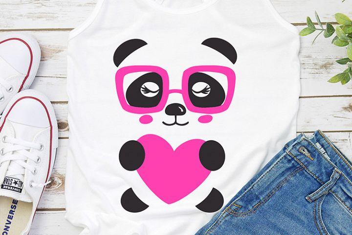 Valentines day panda kids