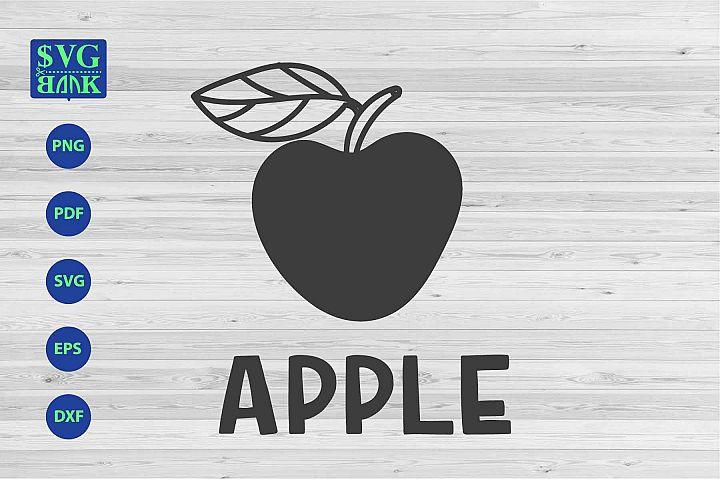 Apple Svg, apple cut file dxf eps png