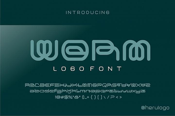 Worm logo font