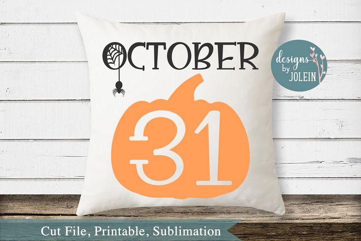 October 31 SVG, png, eps, DXF, sublimation