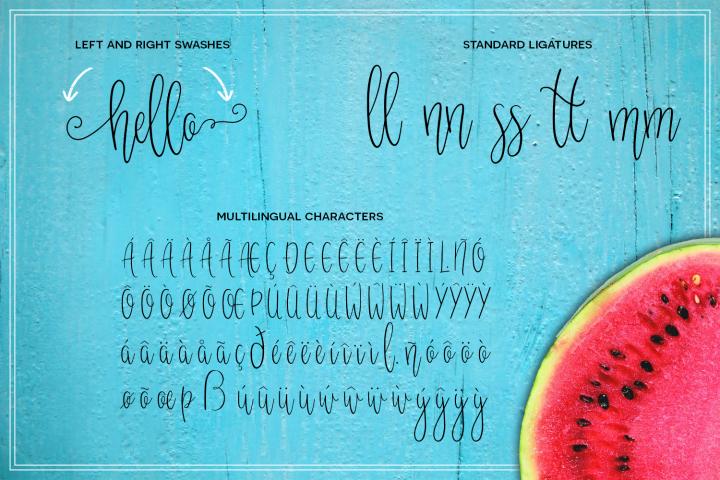 Melonade Font example 1