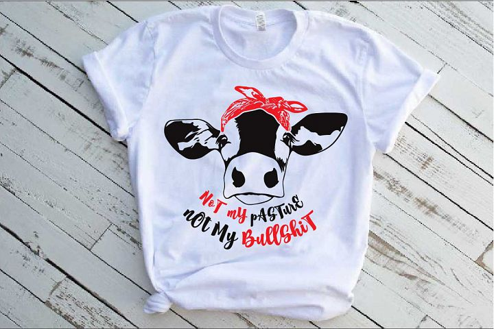 Not my pasture Not my Bullshit SVG Heifer Bandana 1473s