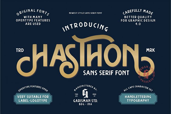 Hasthon - Vintage Fonts