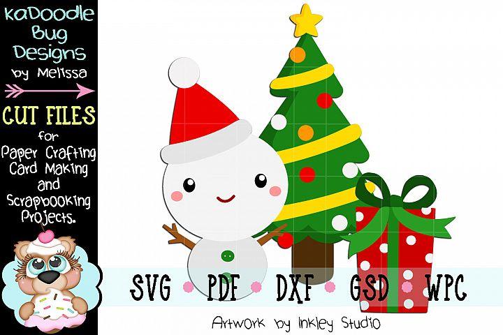 Christmas Snowman Cut File - SVG PDF DXF GSD WPC
