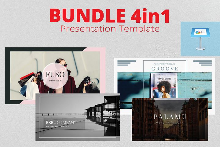 4in1 Bundle Keynote Template