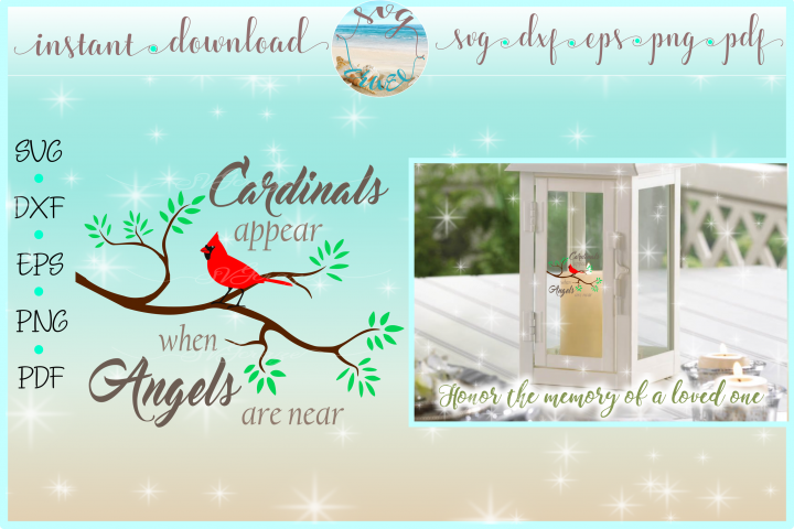 Cardinals Appear When Angels Are Near Quote SVG DXF EPS PNG