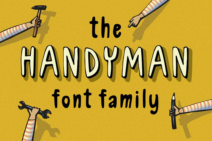 Handyman the Skillful Font Family