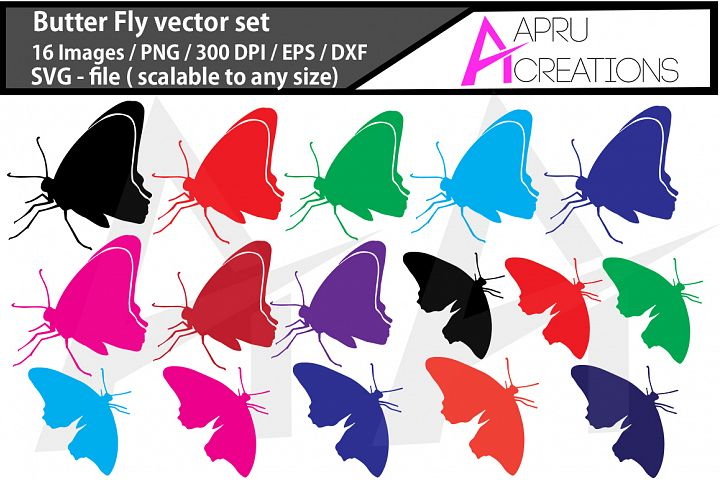 Butterfly silhouette, SVG files, butterfly color image, colour image, insect, vector butterfly commercial use