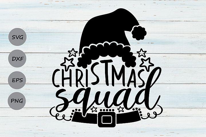 Christmas Squad Svg, Christmas Svg, Holiday svg, Santa Svg.