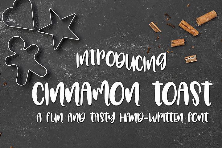 Cinnamon Toast - A Tasty Hand-Written Font