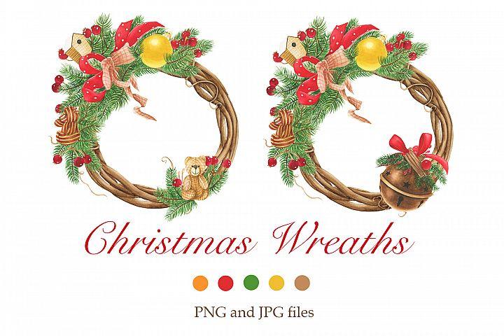 Christmas wreaths clip art #1