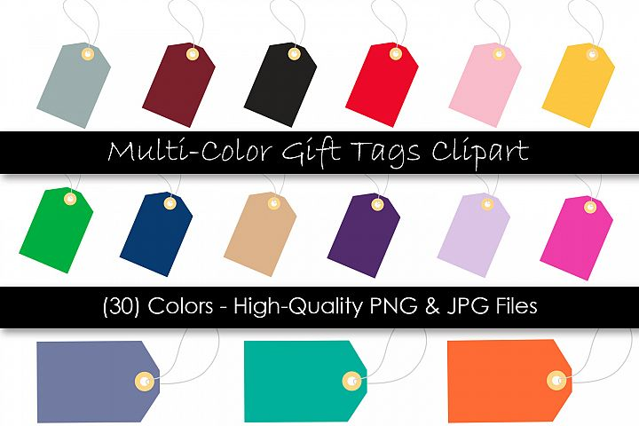 Gift Tag Clipart - Hang Tags