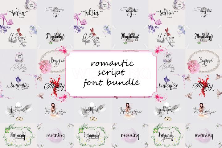 Romantic Script Font Bundle