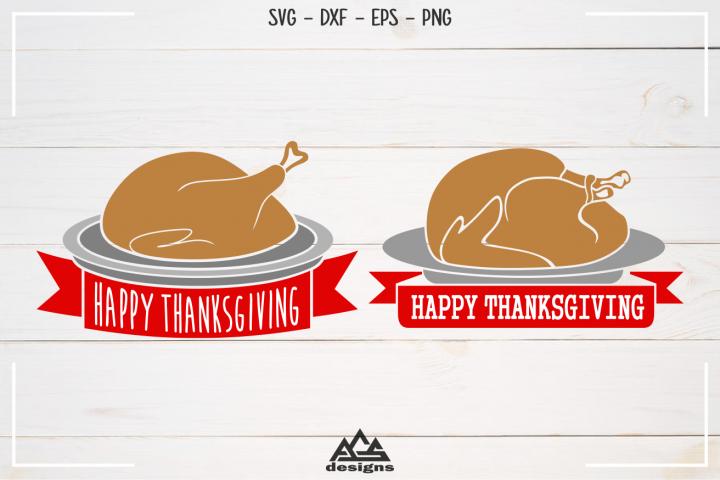 Turkey Happy Thanksgiving Svg Design