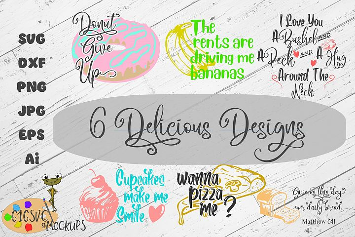 6 Delicious SVG Designs Mini Bundle