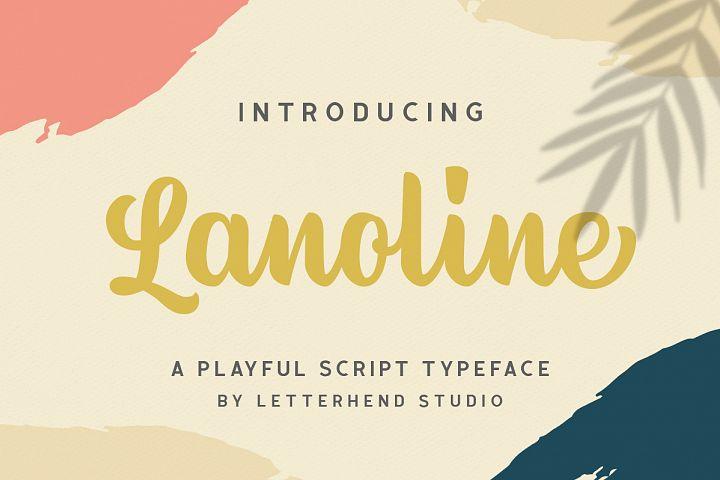 Lanoline - A Playful Script
